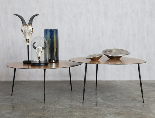 Thin low circular tables