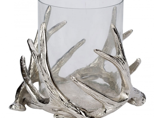 Candle Holder with Deer Horns