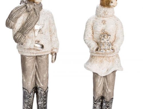 Mr. and Mrs. Deer Statuettes