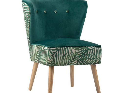 Green Indoor Suede Chair