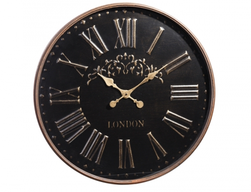 Black Round London Wall Clock