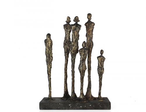 Small Black Statue of Family