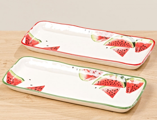 Watermelon Serving Rectangular Plates
