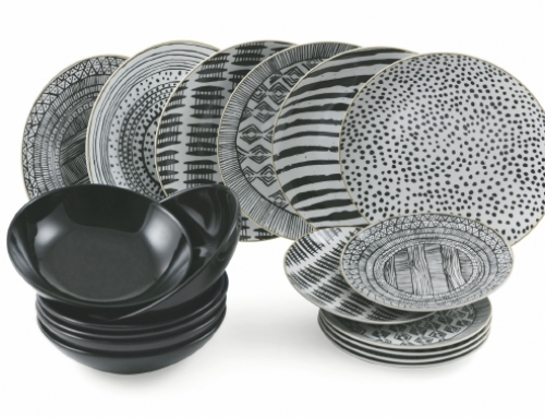 Black and White Dinnerware Set