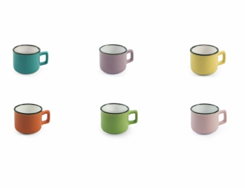 Colorful Coffee Cups Set