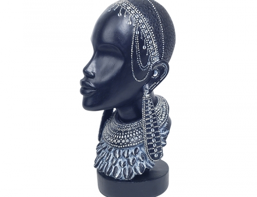 Statuette Tête Femme Africaine