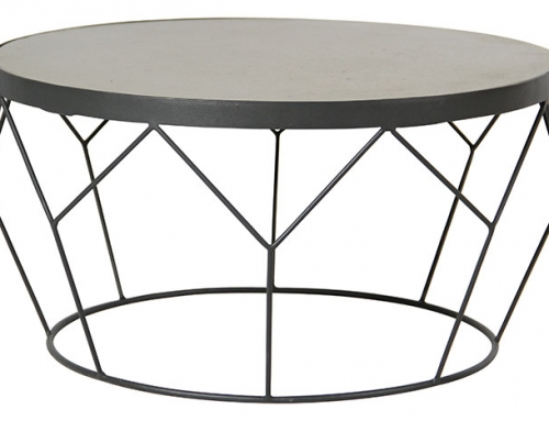 Round Large Concrete and Steel Table