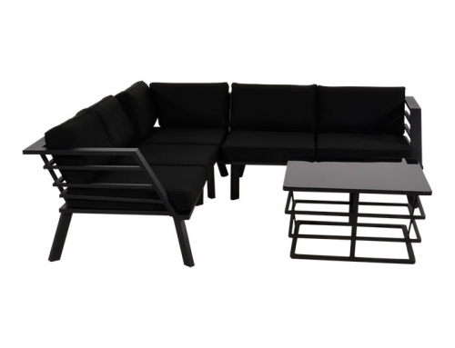 Lesli Living Outdoor Couch and Table