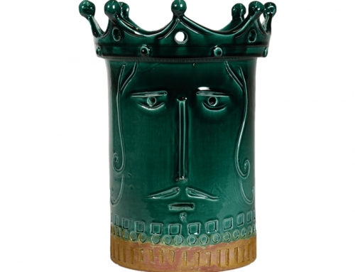 Short Inca Green Ceramic Vase