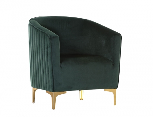 Dark Green Suede Chair