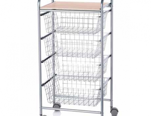 Kitchen Fruits and Vegetables Trolley Organizer