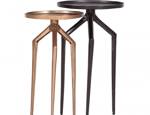 Round Small Side Tables Set