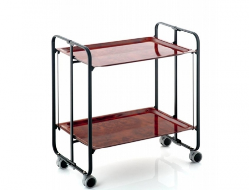 Wood Serving Trolley